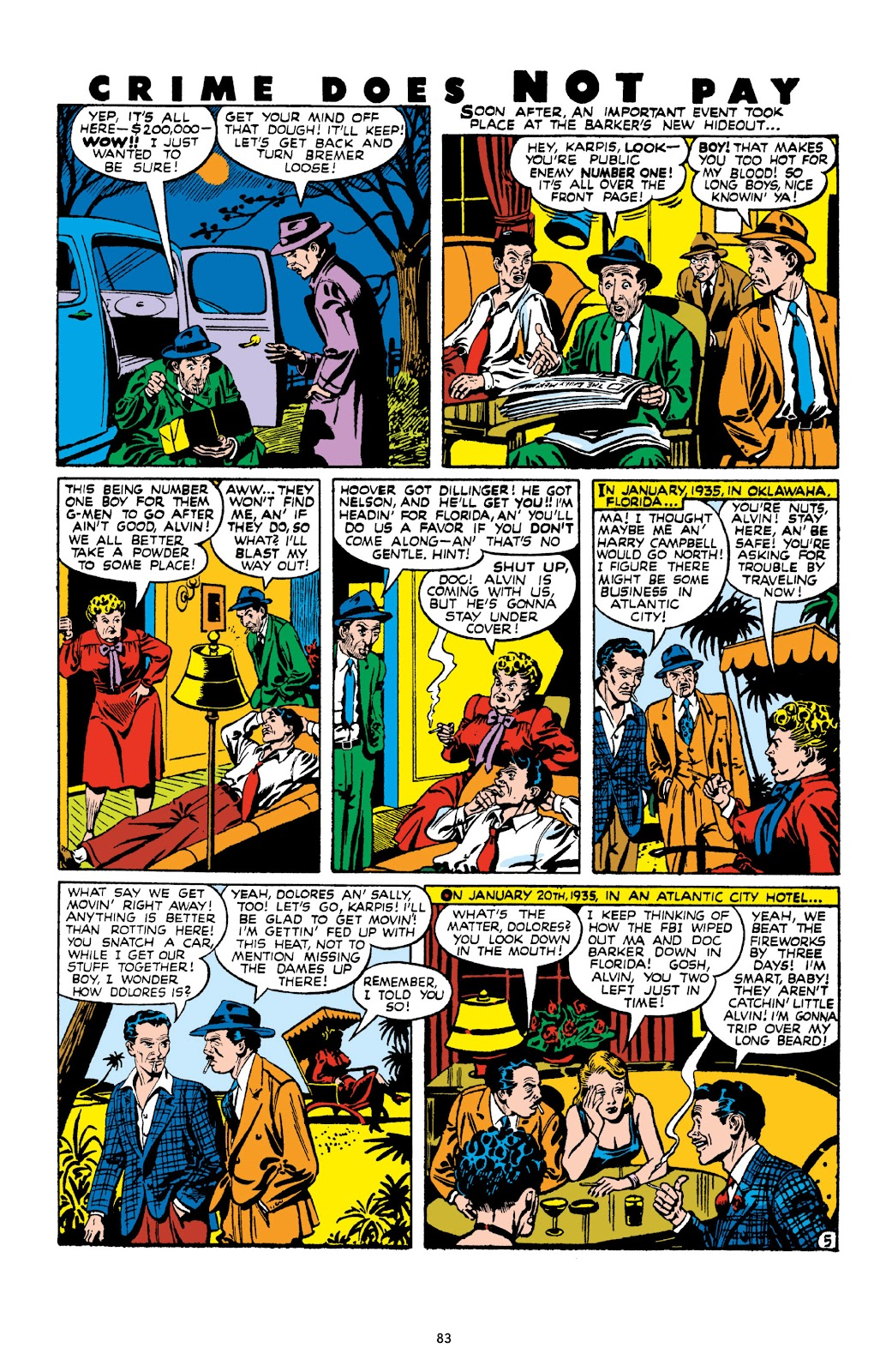 Read online Crime Does Not Pay Archives comic -  Issue # TPB 10 (Part 1) - 85