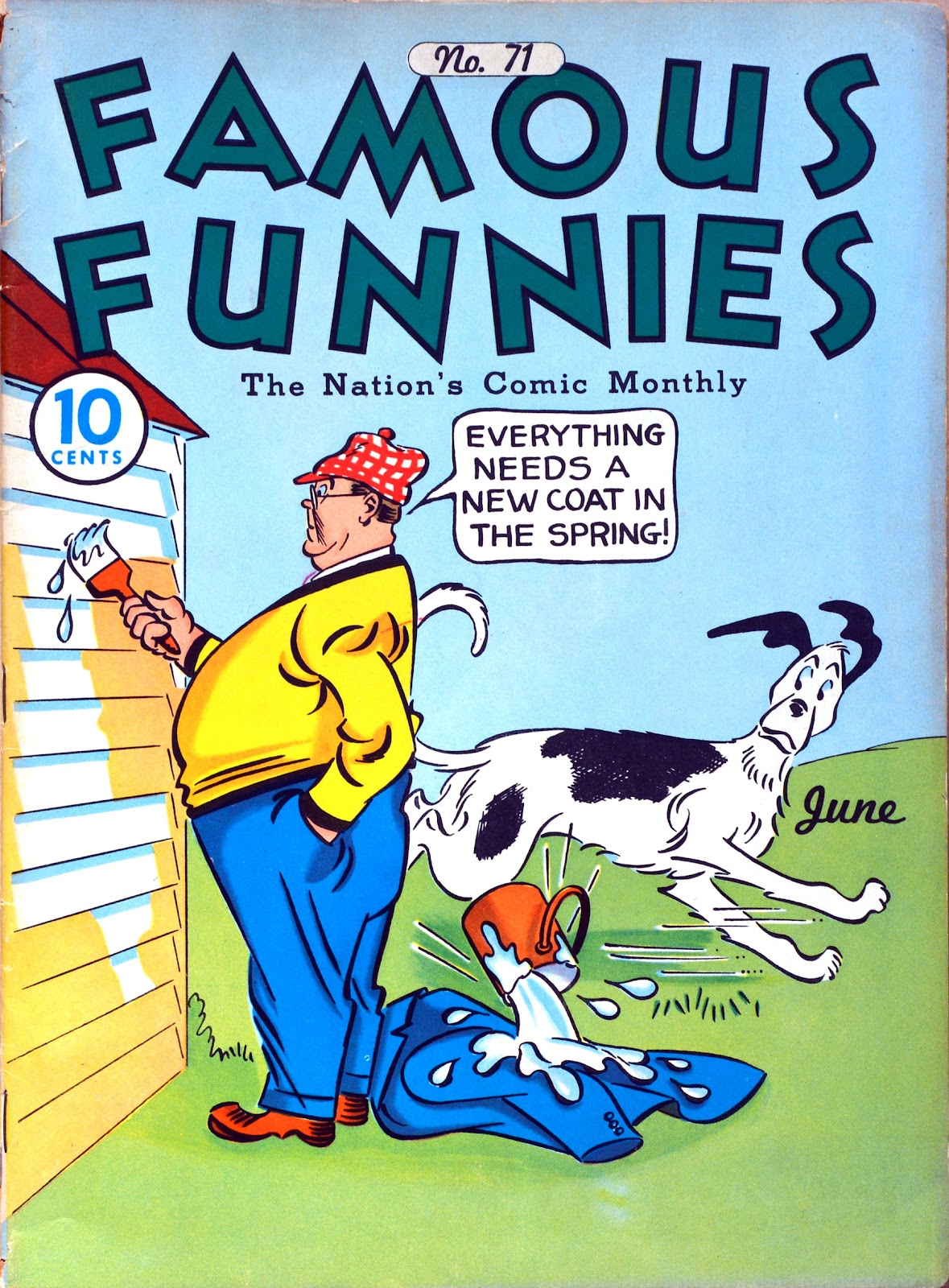 Read online Famous Funnies comic -  Issue #71 - 1