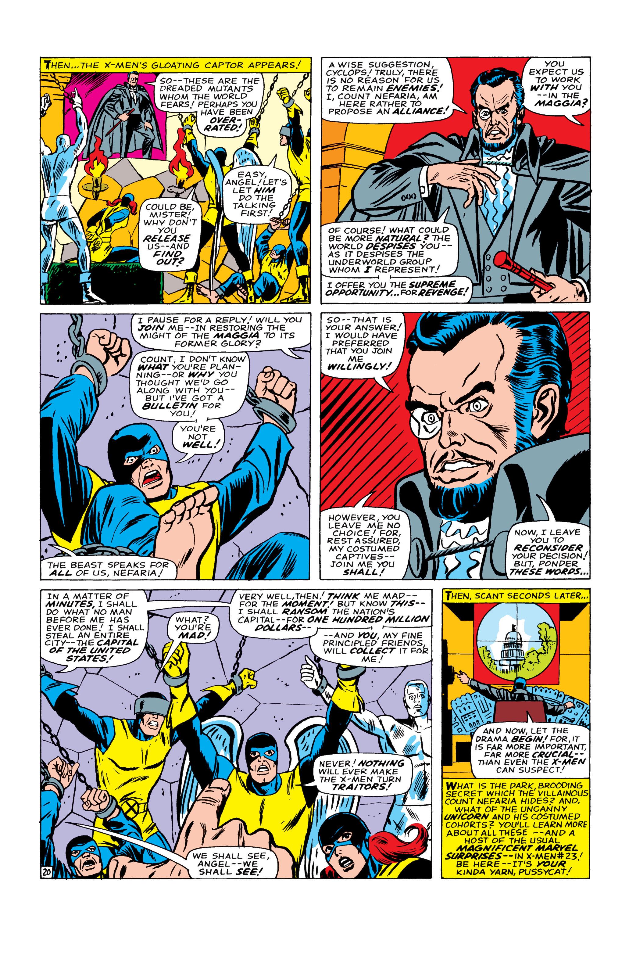Read online Uncanny X-Men (1963) comic -  Issue #22 - 21