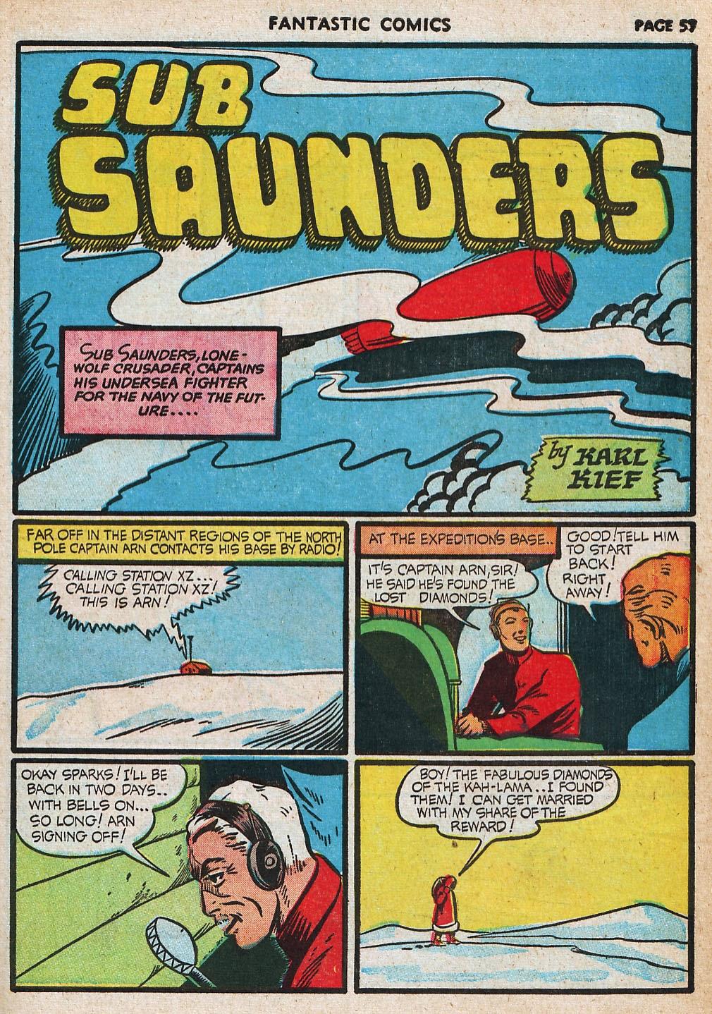 Read online Fantastic Comics comic -  Issue #20 - 57