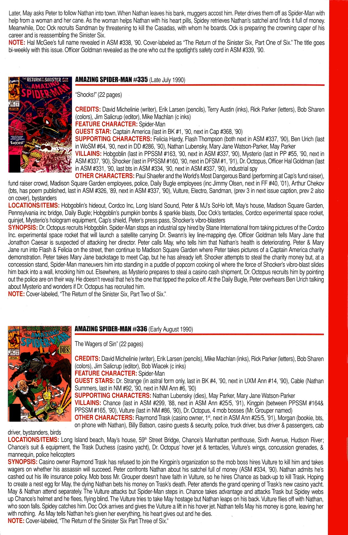 Read online Official Index to the Marvel Universe comic -  Issue #8 - 7