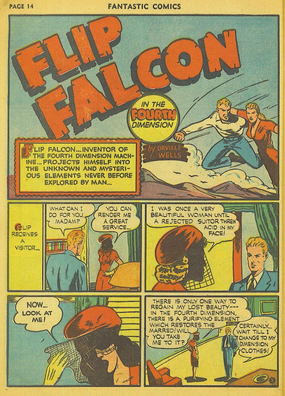 Read online Fantastic Comics comic -  Issue #15 - 7