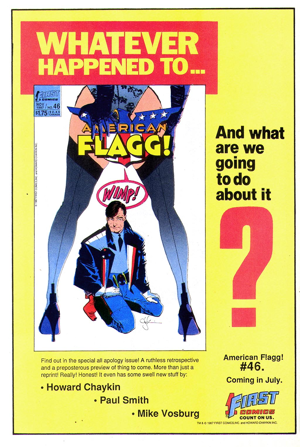 Read online American Flagg! comic -  Issue #45 - 22