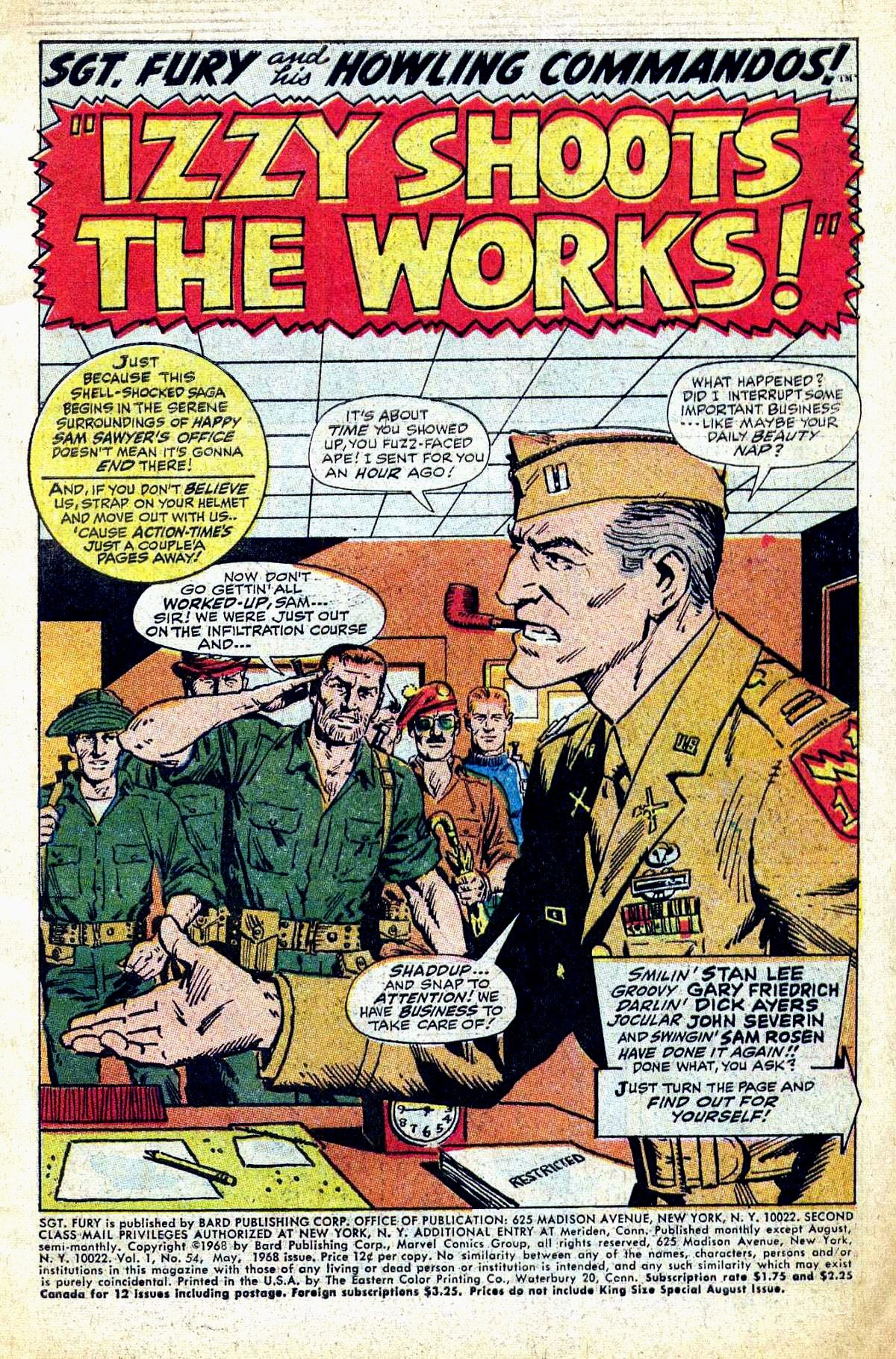 Read online Sgt. Fury comic -  Issue #54 - 3