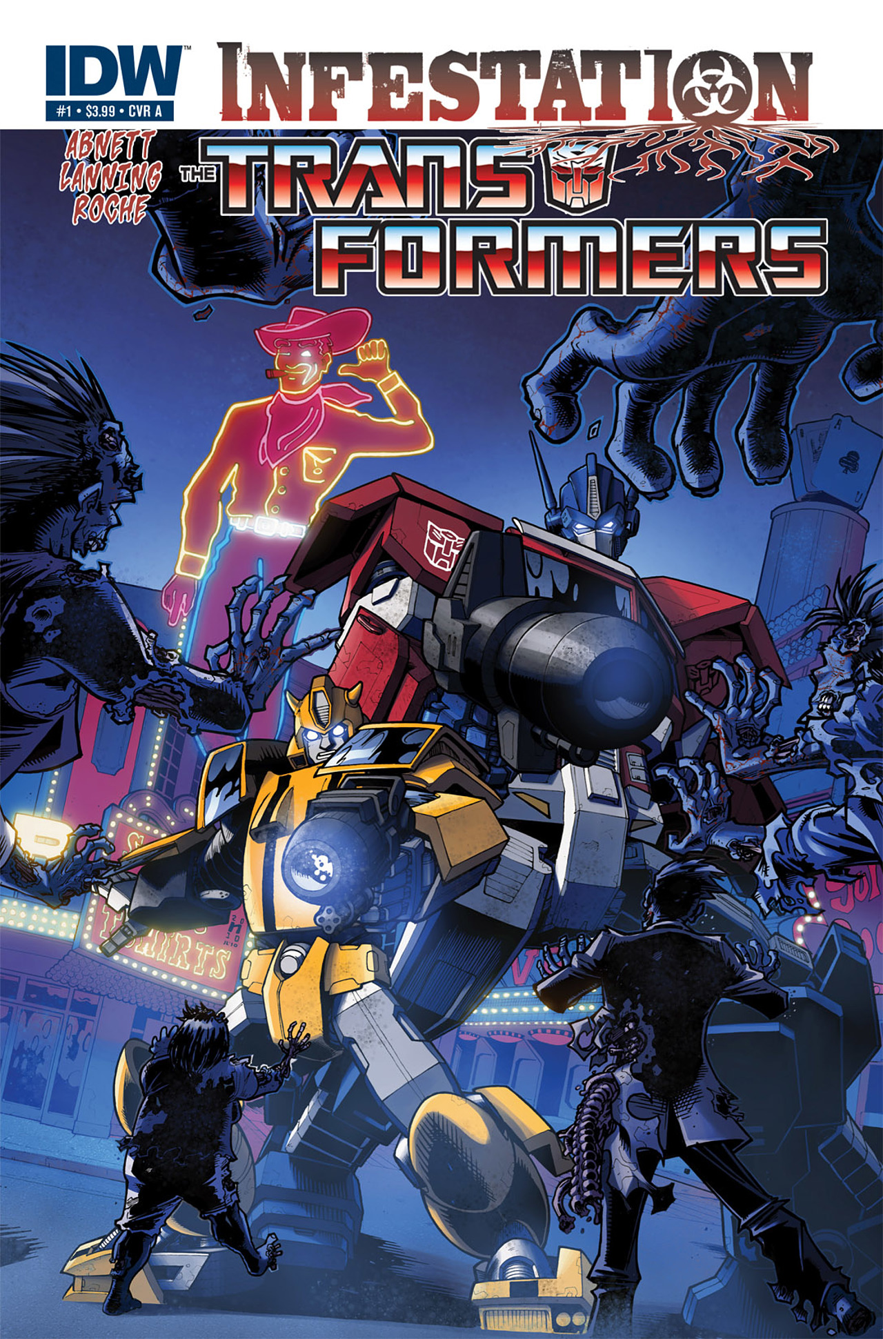Read online Transformers: Infestation comic -  Issue #1 - 1