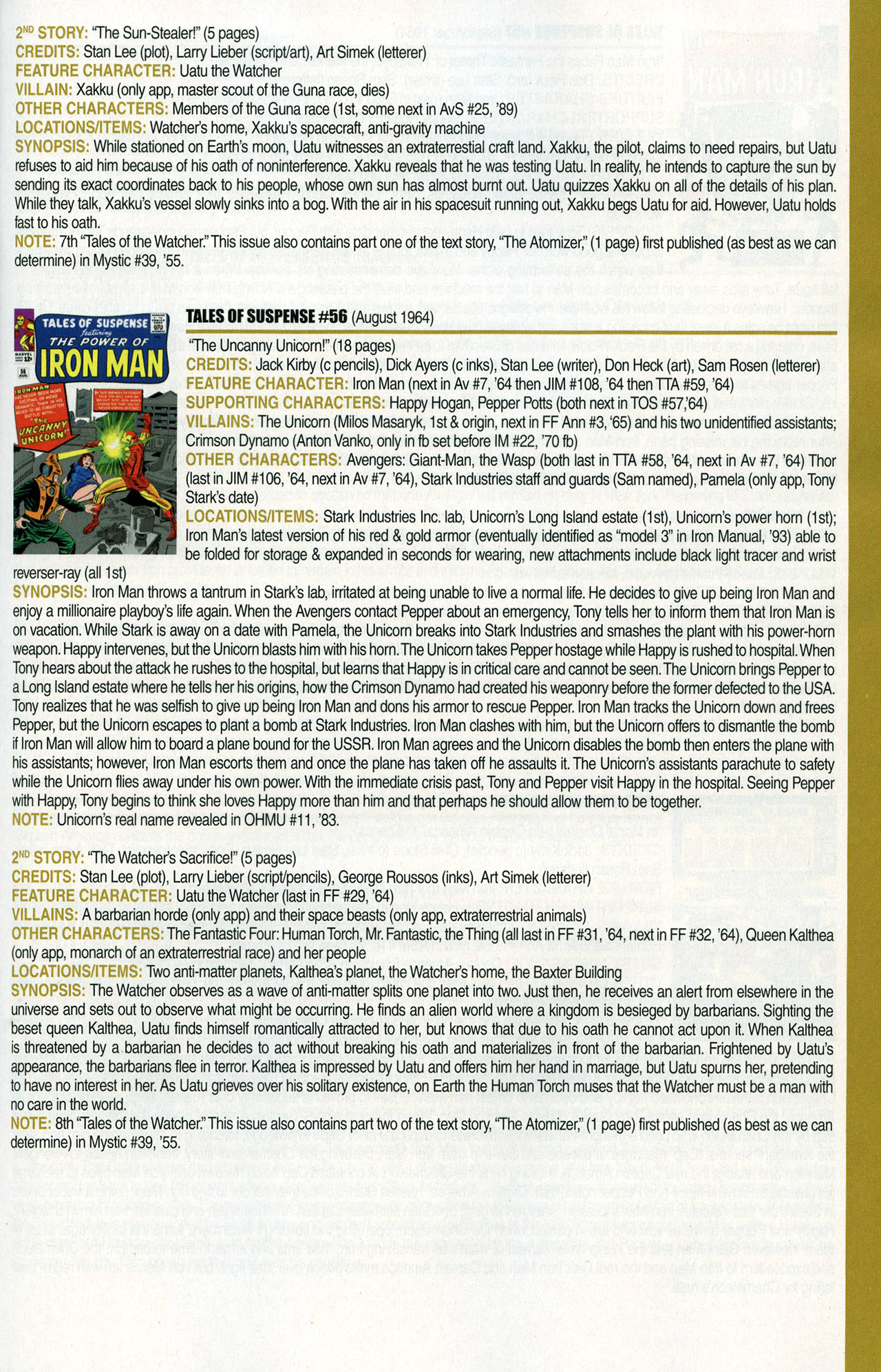 Read online Official Index to the Marvel Universe comic -  Issue #1 - 35