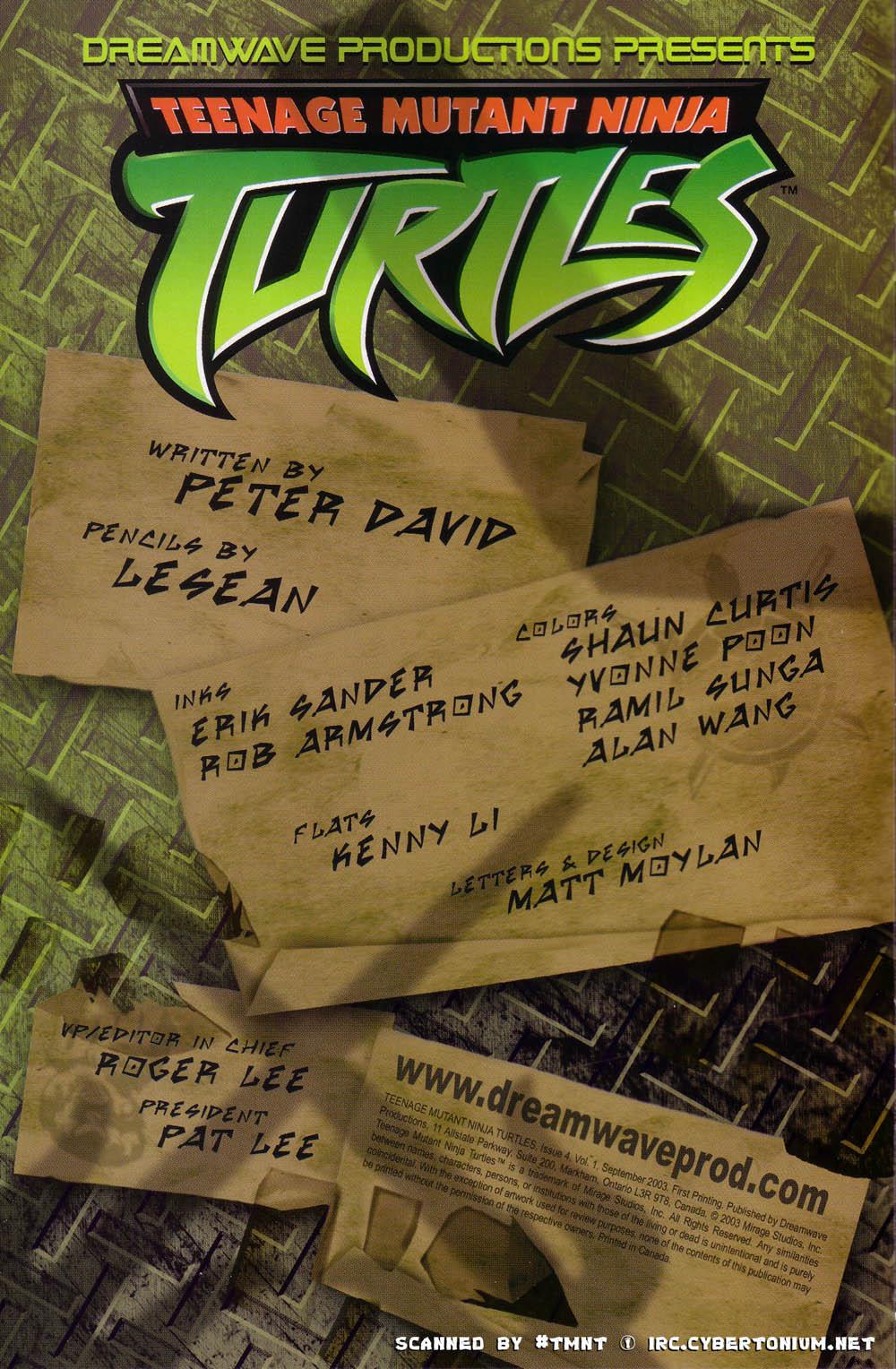Teenage Mutant Ninja Turtles (2003) issue 4 - Page 2