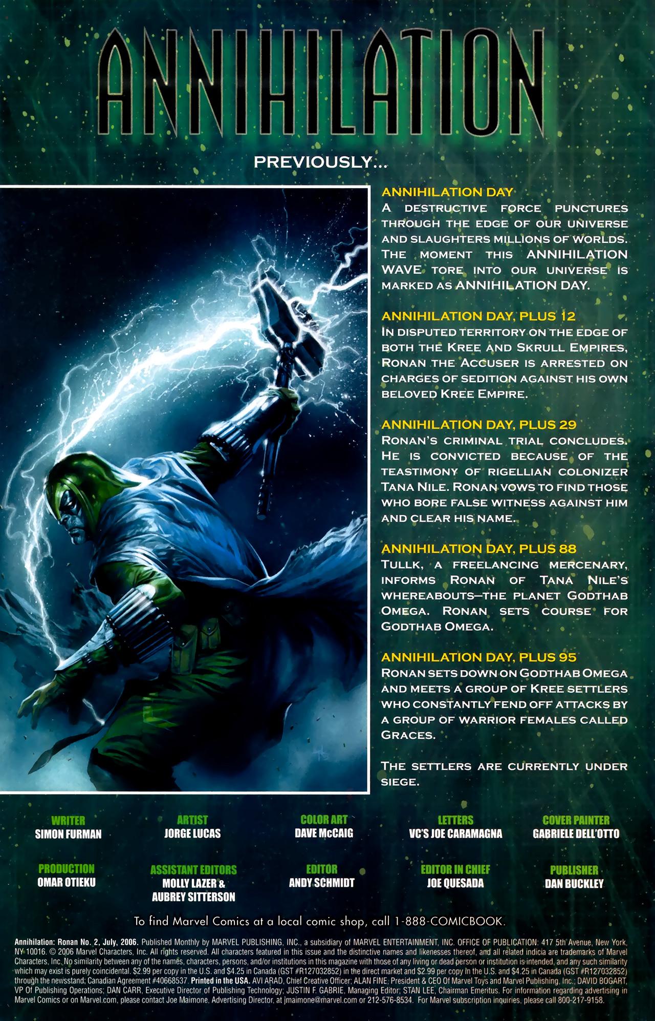 Read online Annihilation: Ronan comic -  Issue #2 - 2