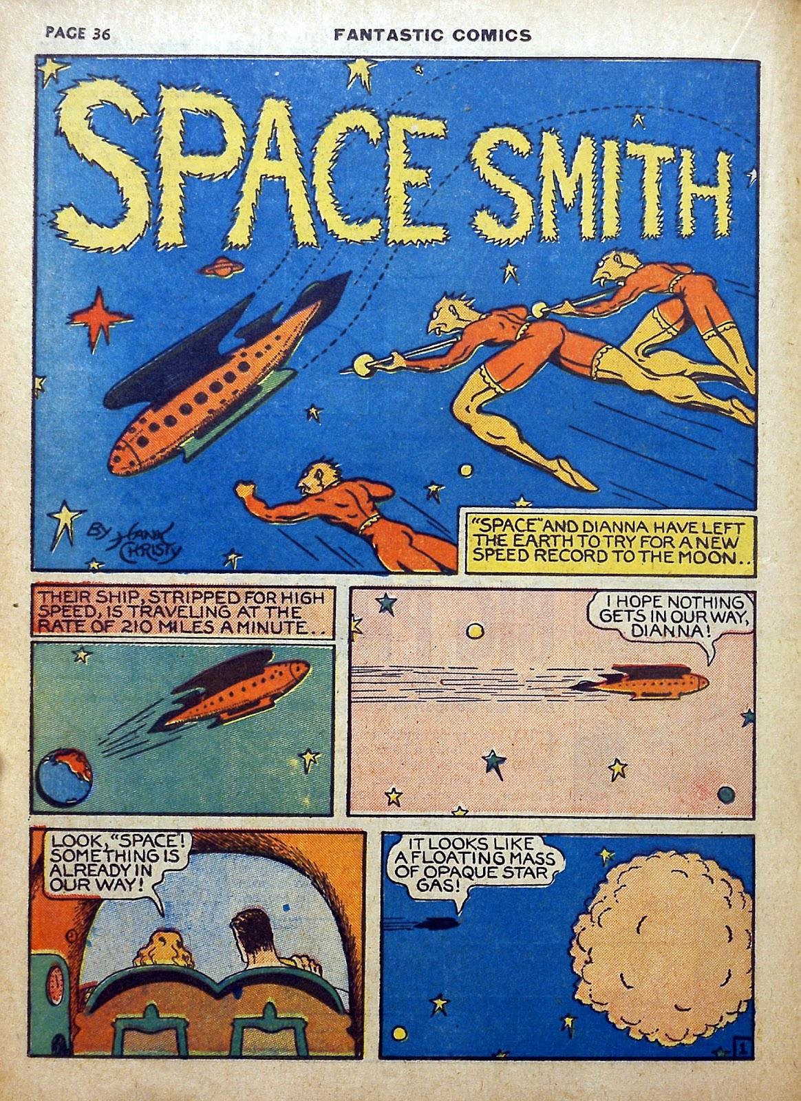 Read online Fantastic Comics comic -  Issue #5 - 37