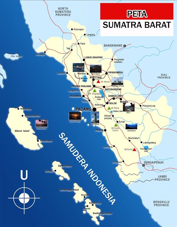 Peta Sumatra Barat lengkap