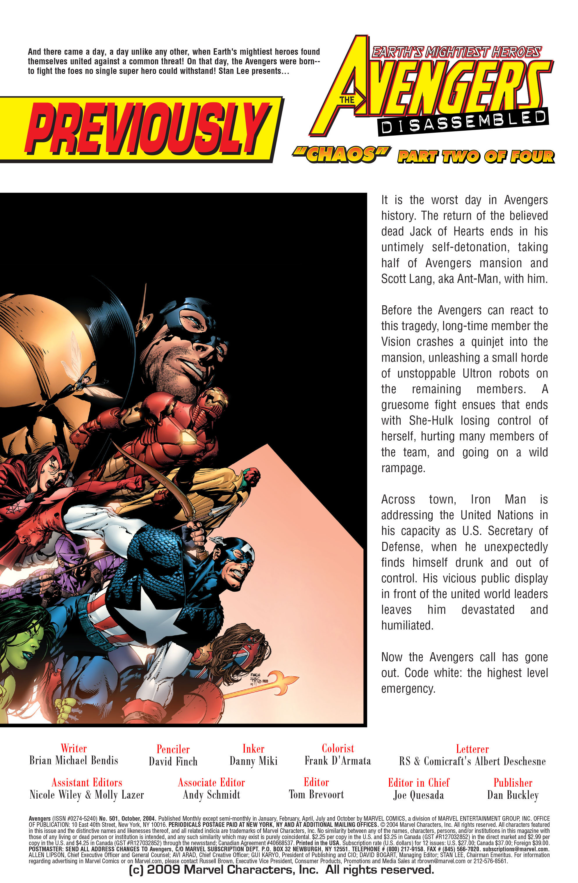 Read online Avengers (1998) comic -  Issue #501 - 2