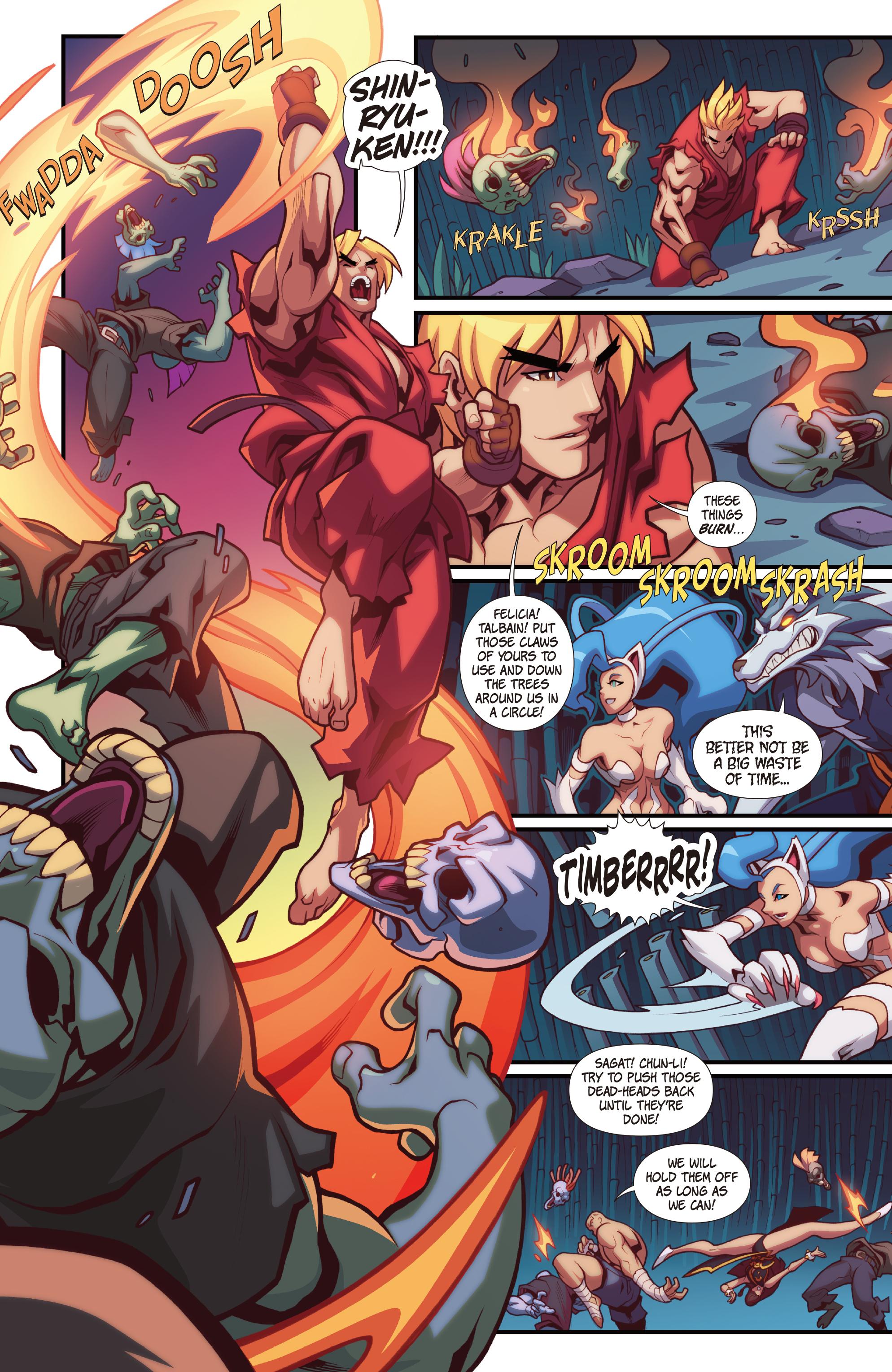 Read online Street Fighter VS Darkstalkers comic -  Issue #2 - 15