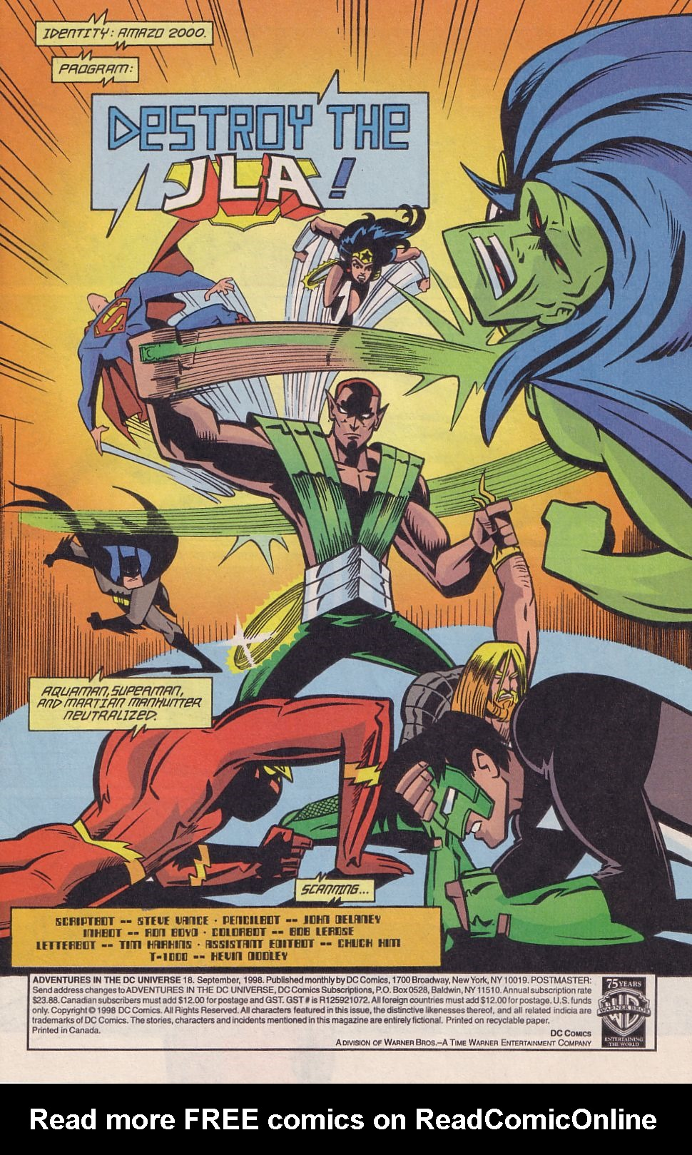 Read online Adventures in the DC Universe comic -  Issue #18 - 2