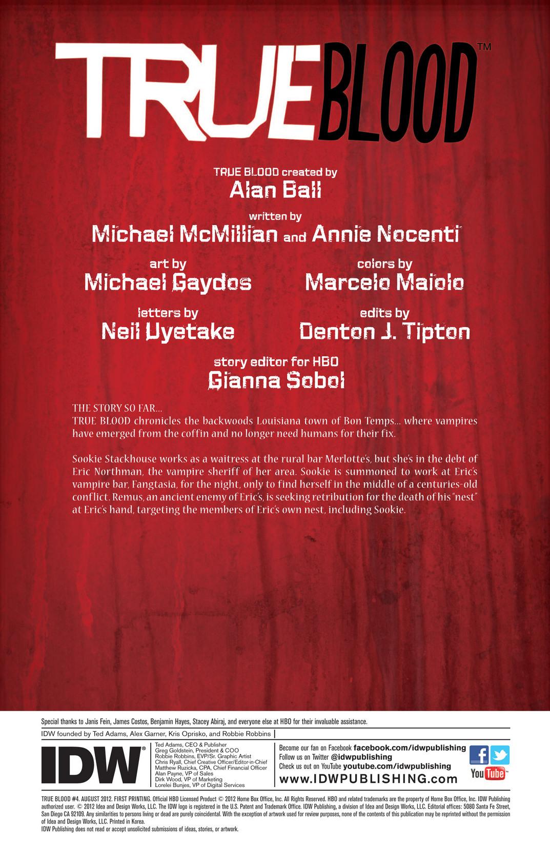 Read online True Blood (2012) comic -  Issue #4 - 2