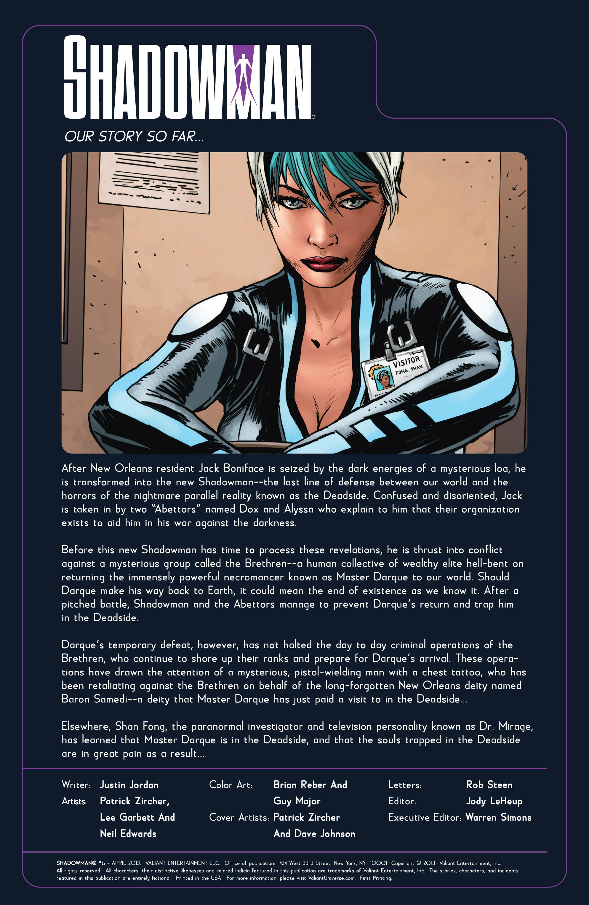 Read online Shadowman (2012) comic -  Issue #6 - 2