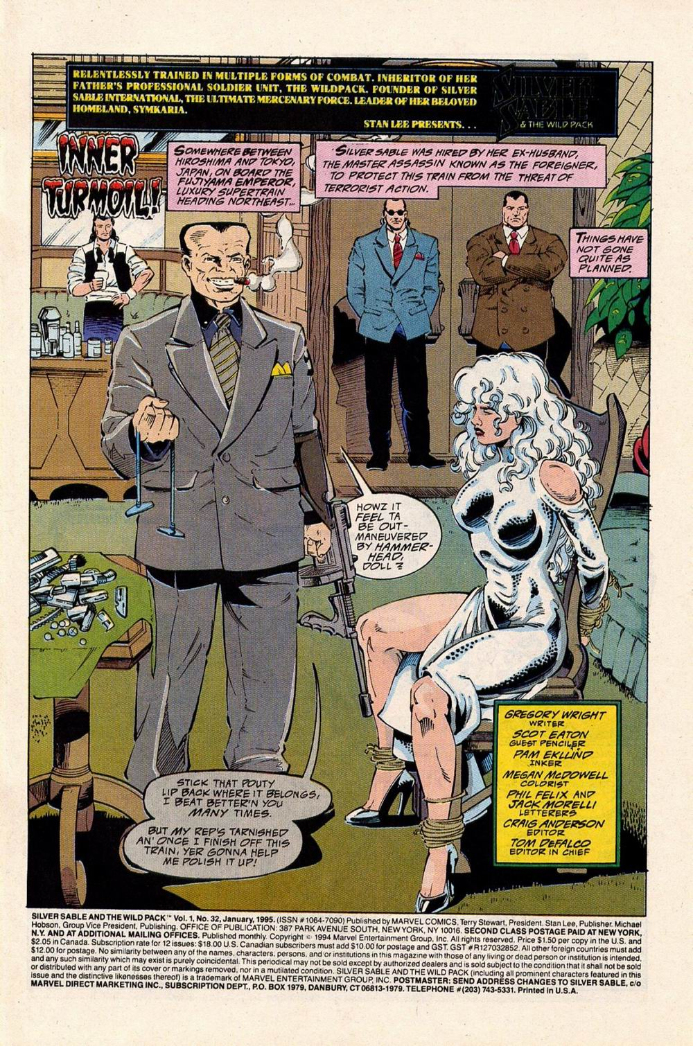 Read online Silver Sable and the Wild Pack comic -  Issue #32 - 2