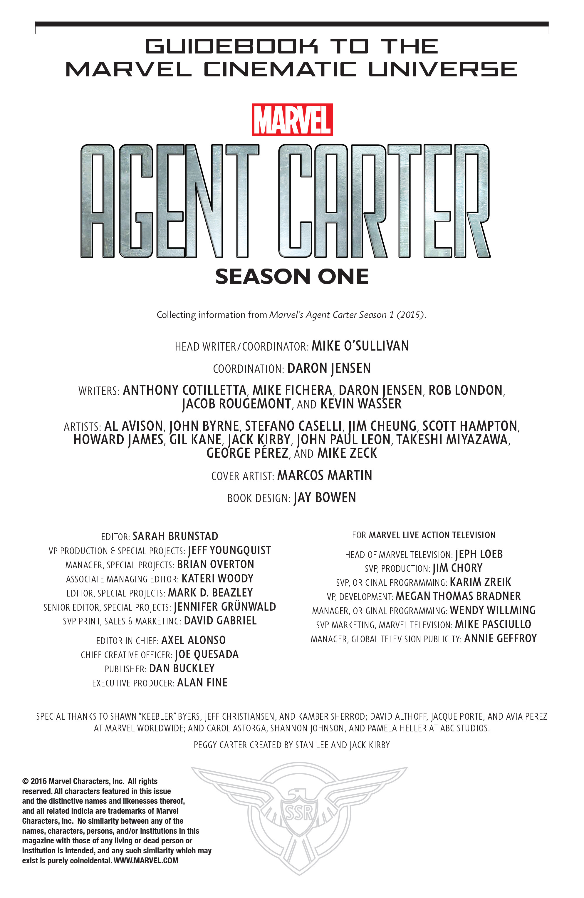 Guidebook to the Marvel Cinematic Universe - Marvels Agent Carter Season One Full Page 2