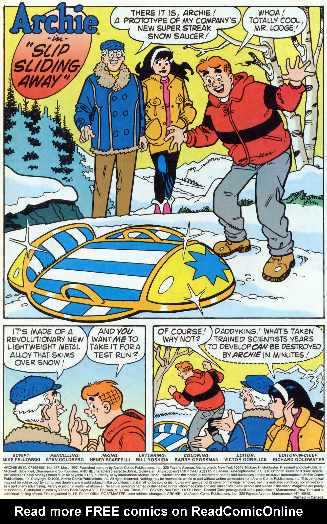 Read online Archie (1960) comic -  Issue #457 - 2