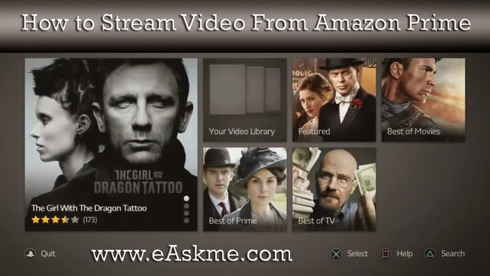 How to Stream Video From Amazon Prime : eAskme