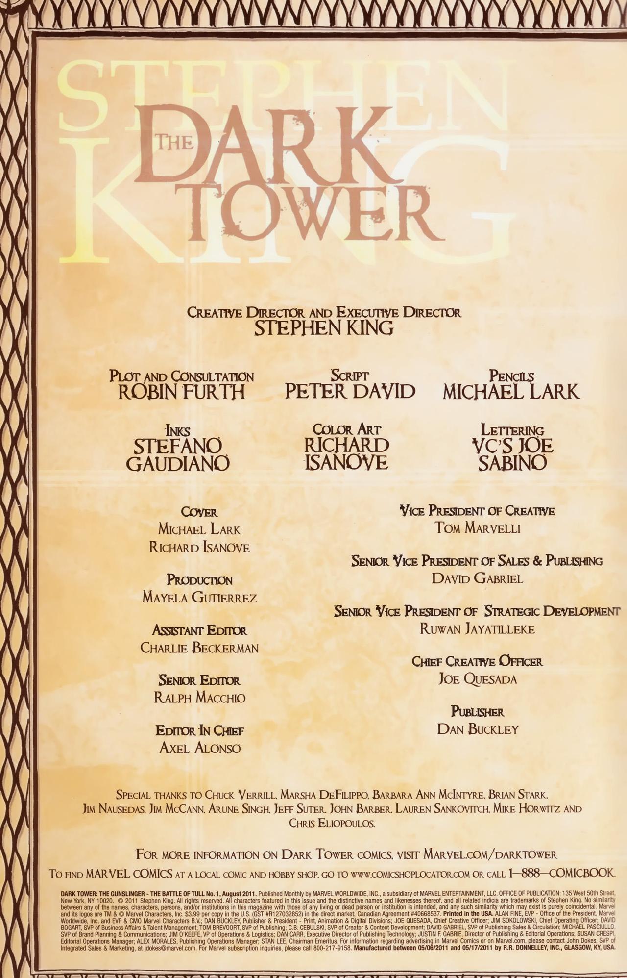 Read online Dark Tower: The Gunslinger - The Battle of Tull comic -  Issue #1 - 2