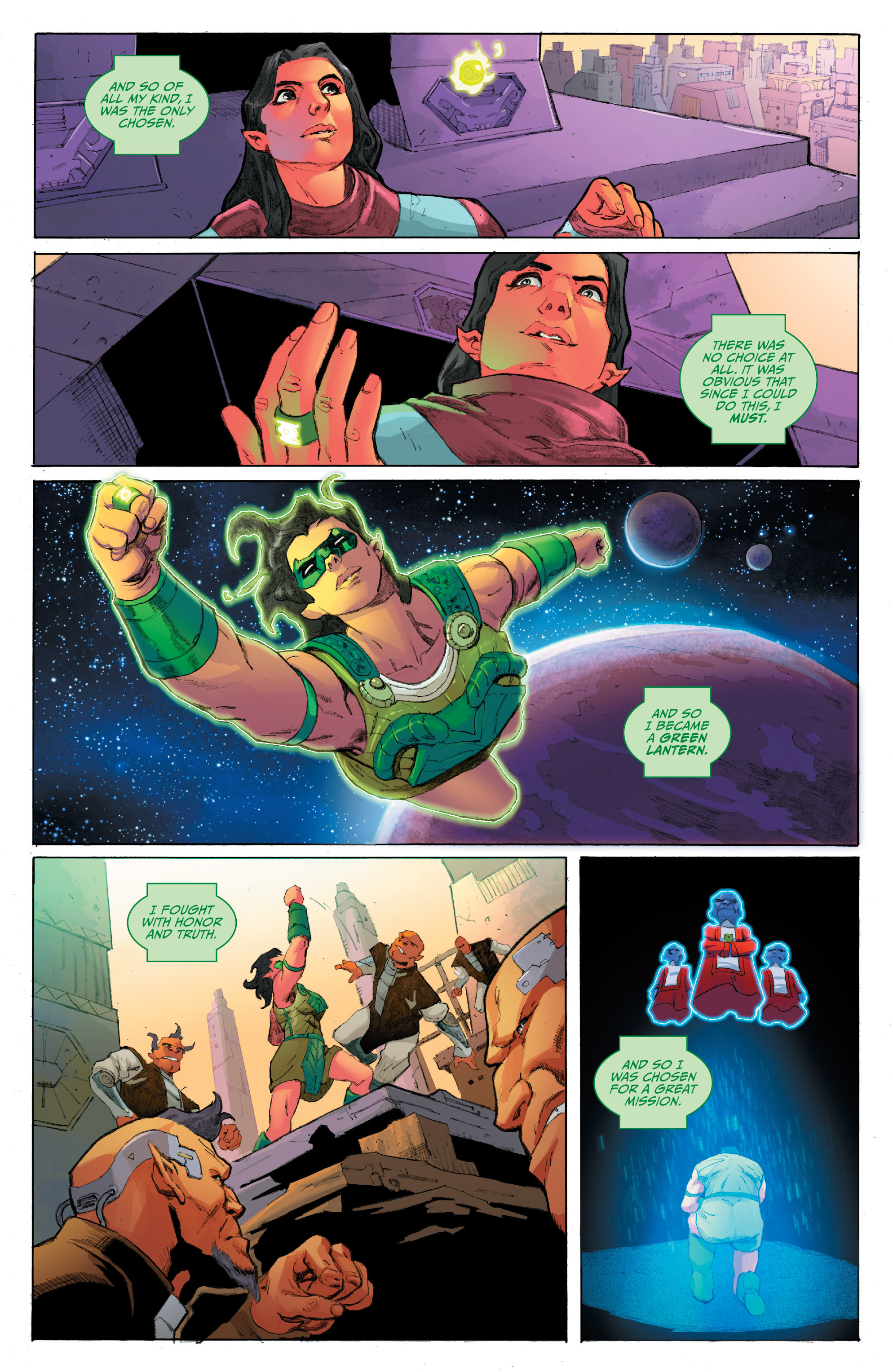 Read online Planet of the Apes/Green Lantern comic -  Issue #4 - 3