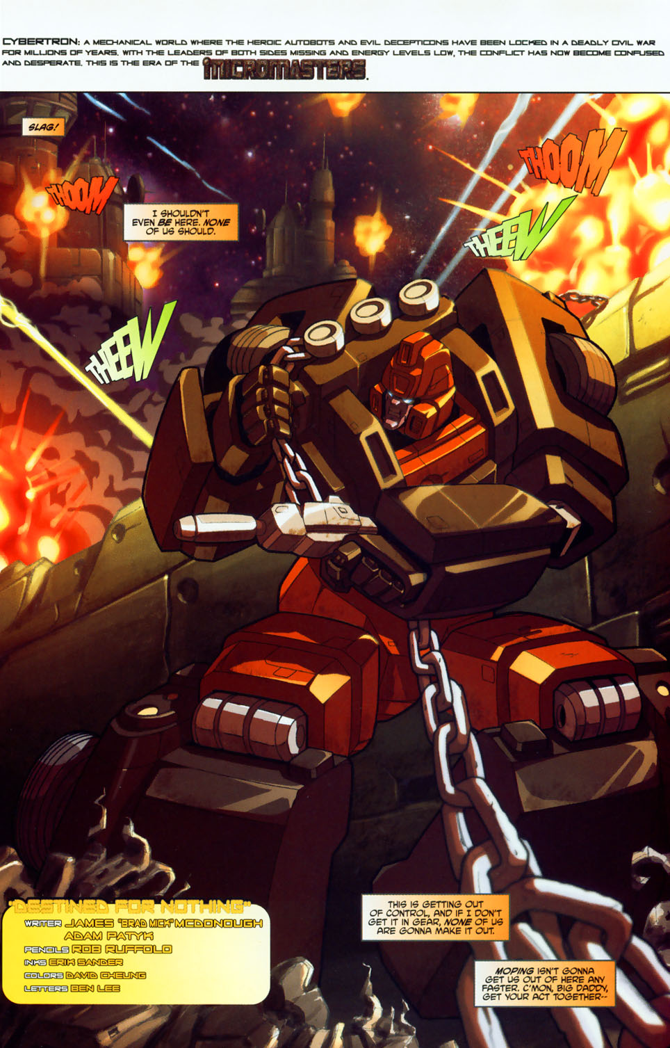 Read online Transformers: Micromasters comic -  Issue #1 - 4