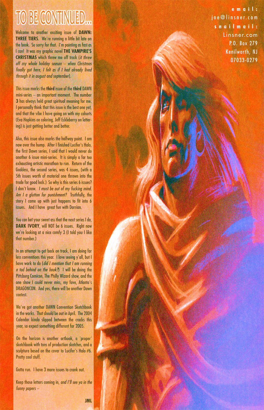 Read online Dawn: Three Tiers comic -  Issue #3 - 27
