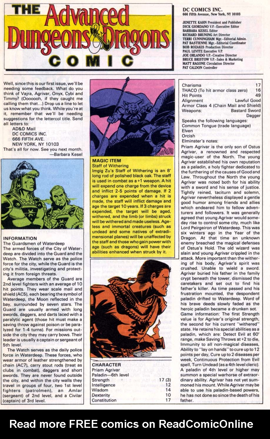 Read online Advanced Dungeons & Dragons comic -  Issue #1 - 24