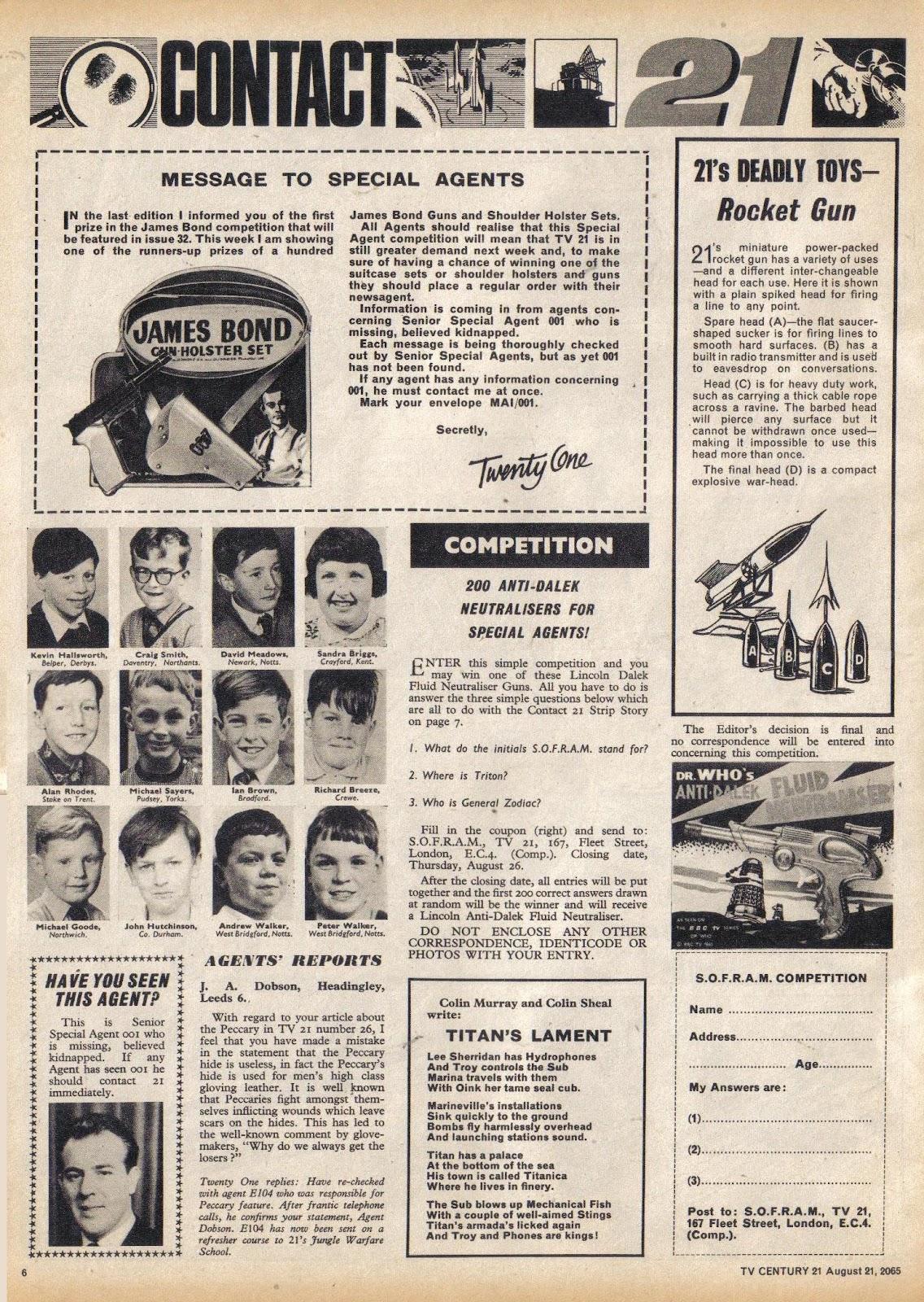 TV Century 21 (TV 21) issue 31 - Page 6