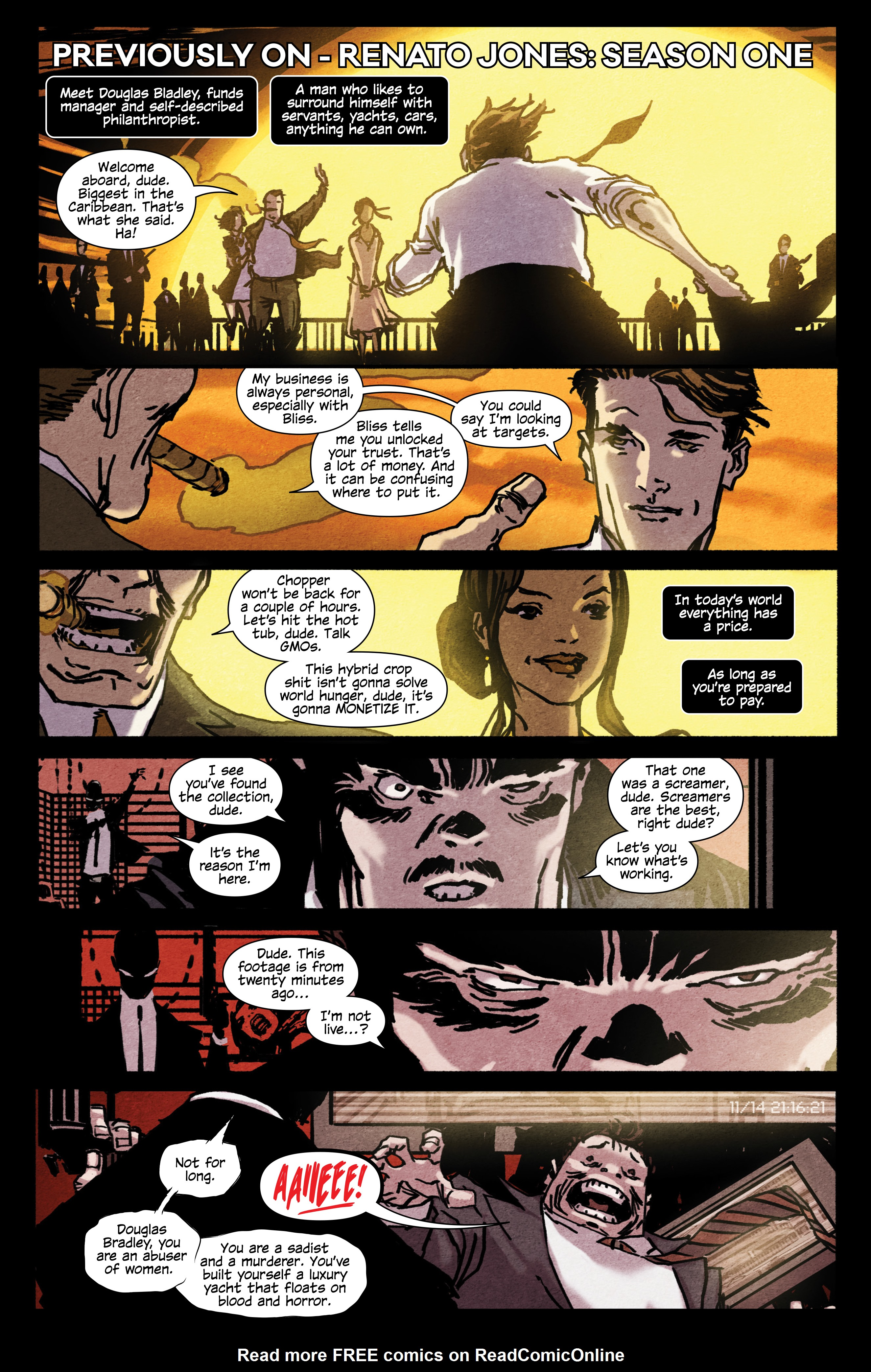 Read online Renato Jones, Season 2: Freelancer comic -  Issue #1 - 4