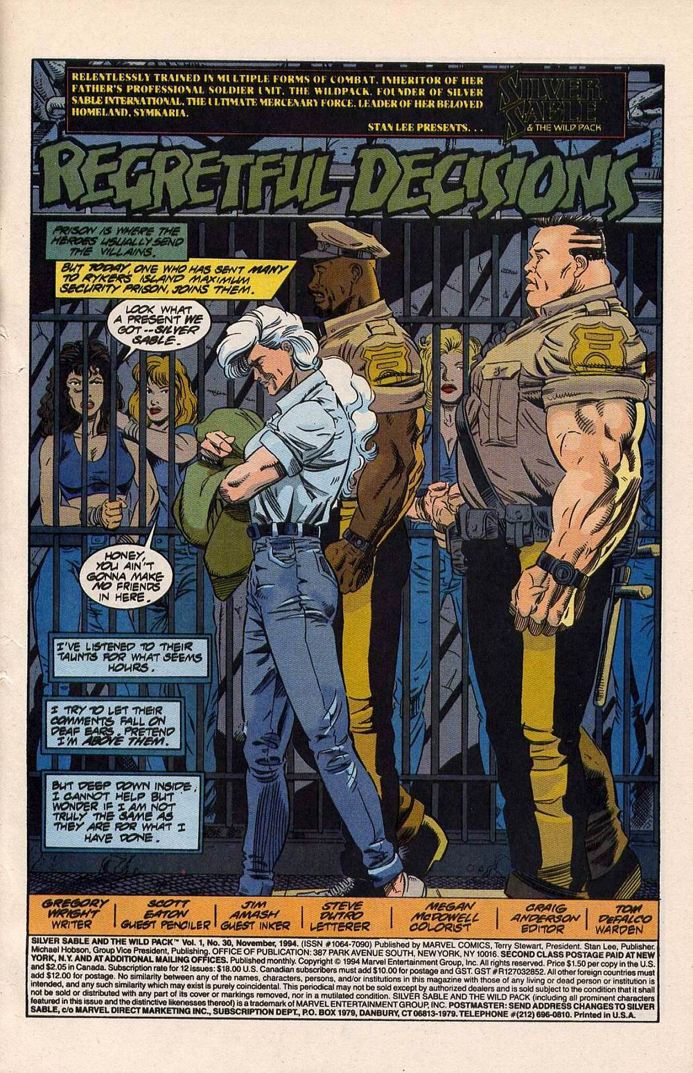 Read online Silver Sable and the Wild Pack comic -  Issue #30 - 2