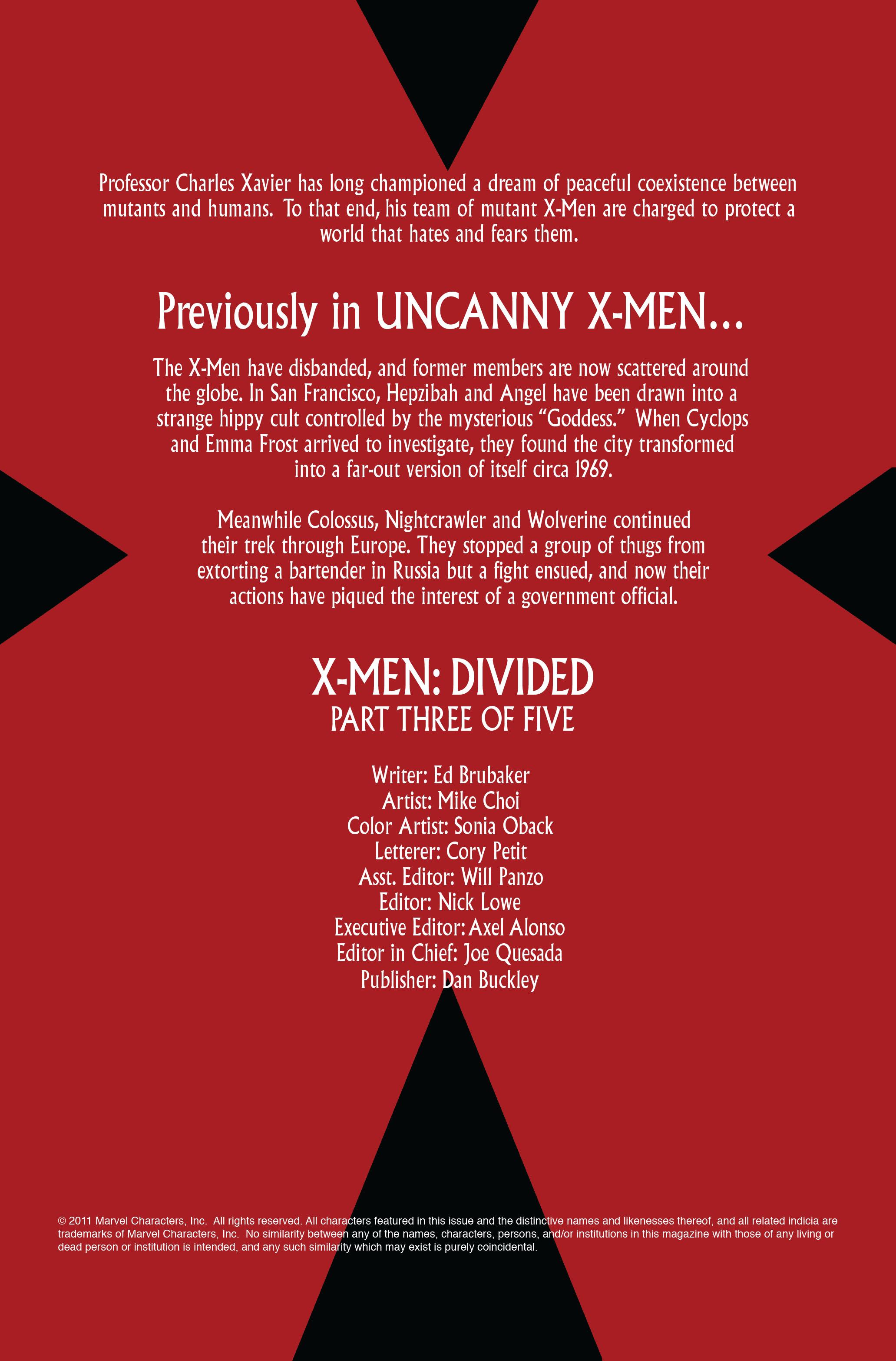 Read online Uncanny X-Men (1963) comic -  Issue #497 - 2
