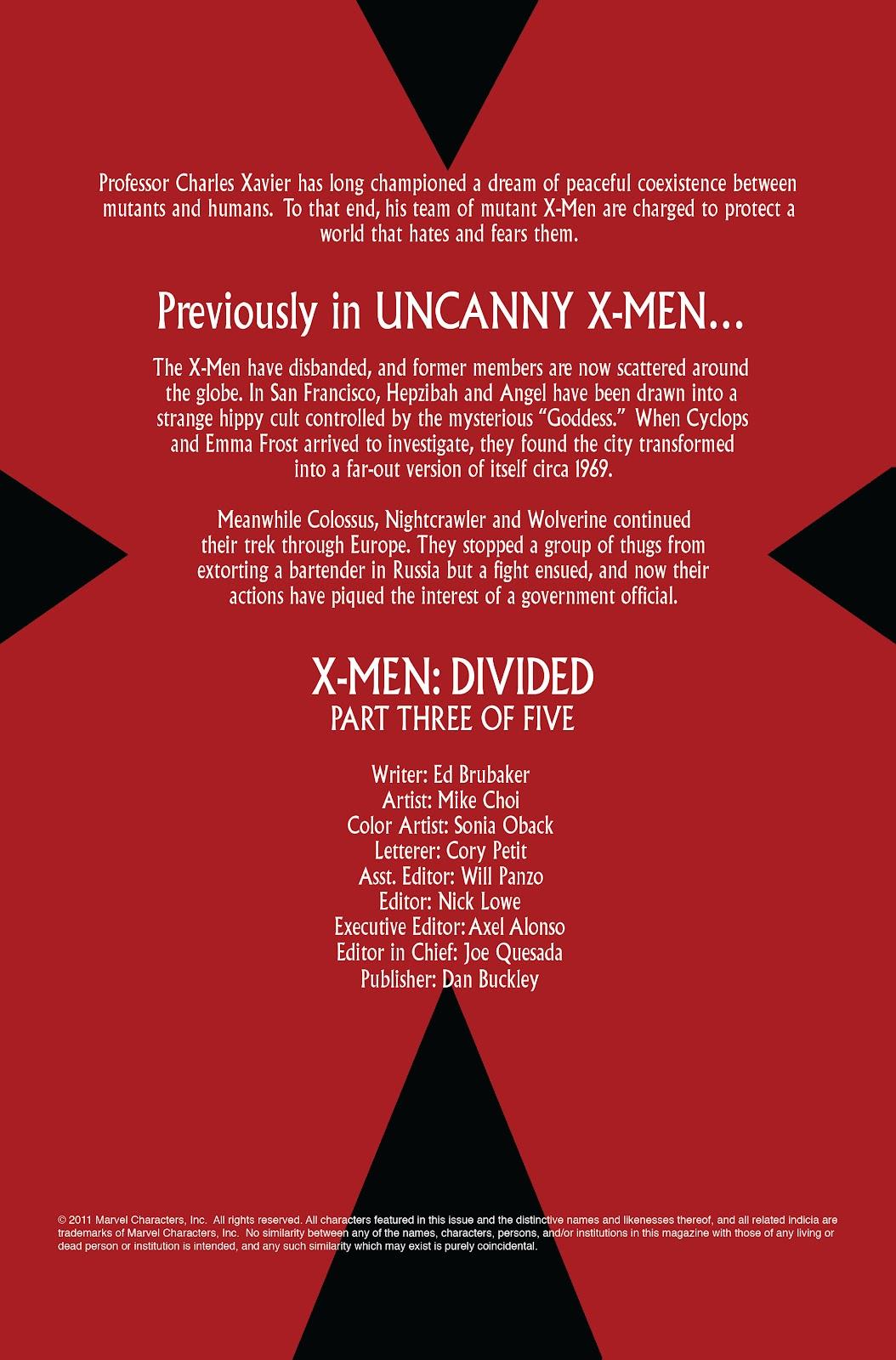 Uncanny X-Men (1963) issue 497 - Page 2