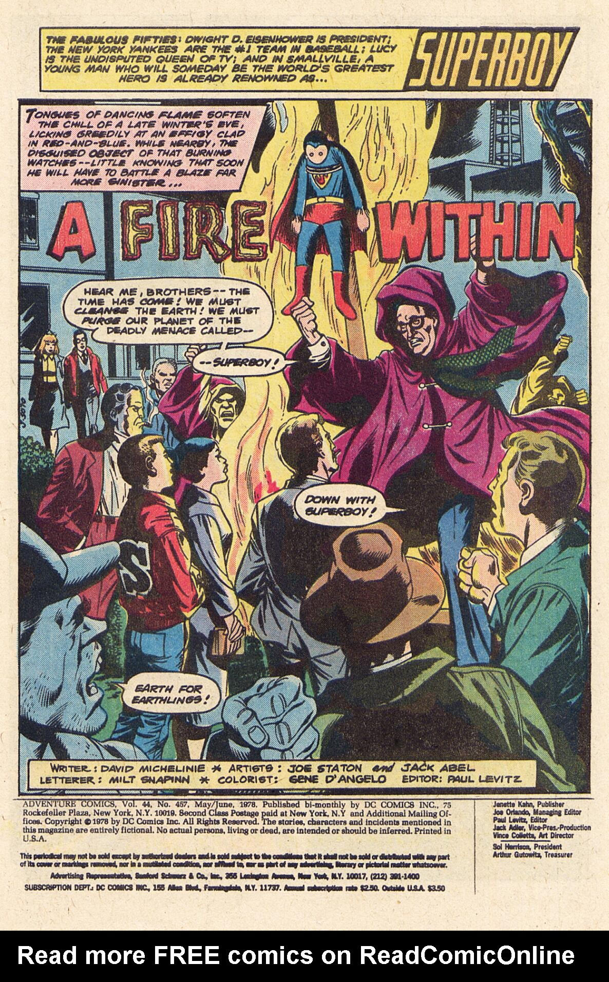 Read online Adventure Comics (1938) comic -  Issue #457 - 2