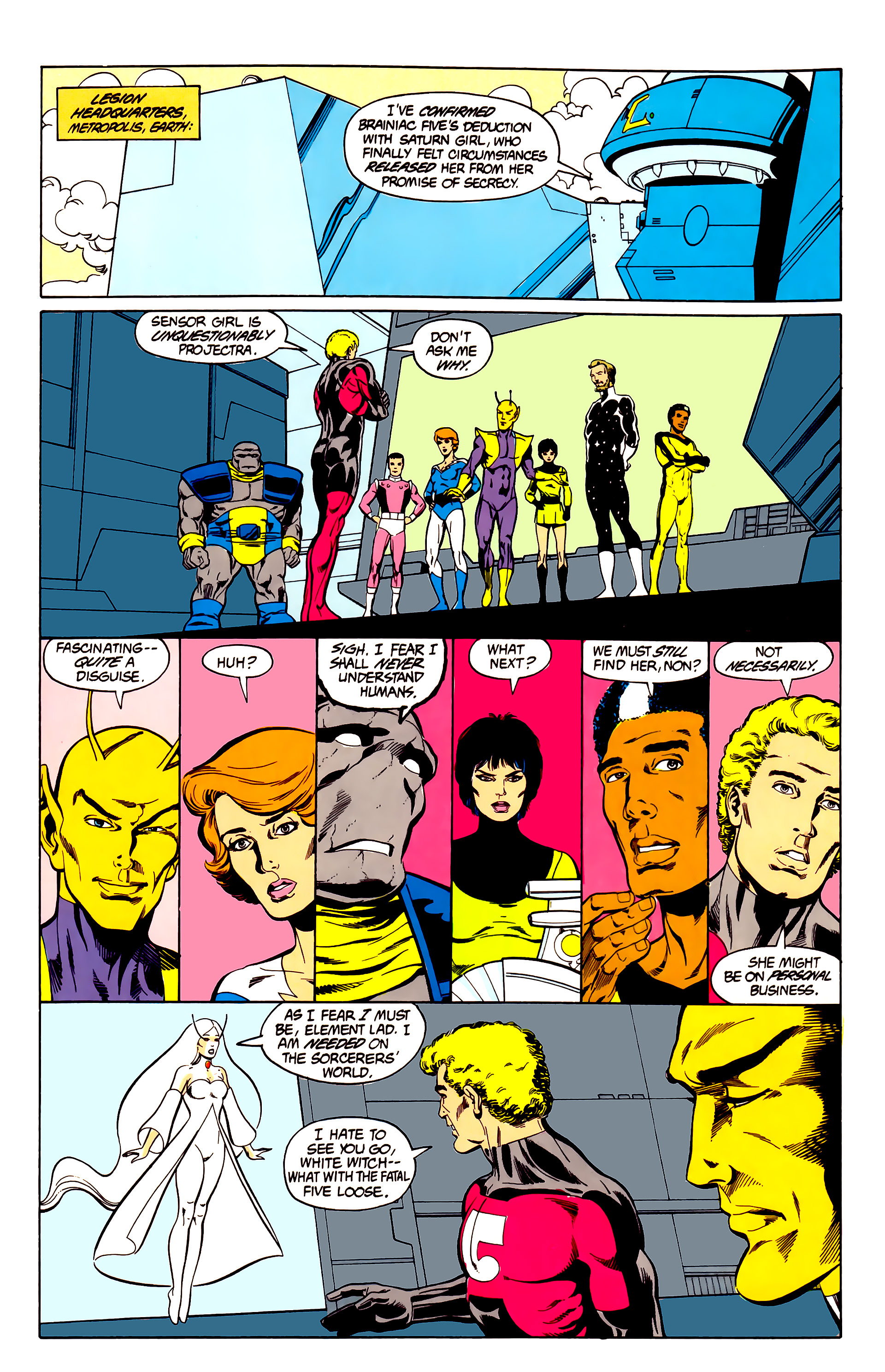Legion of Super-Heroes (1984) 26 Page 11