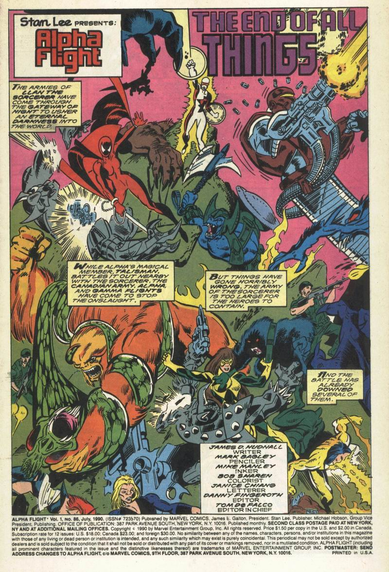 Read online Alpha Flight (1983) comic -  Issue #86 - 2