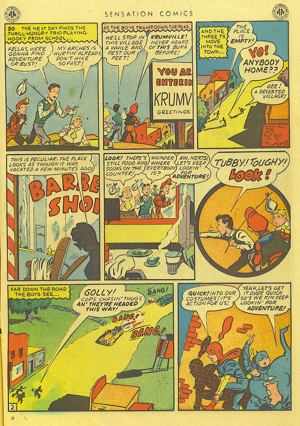 Read online Sensation (Mystery) Comics comic -  Issue #39 - 23