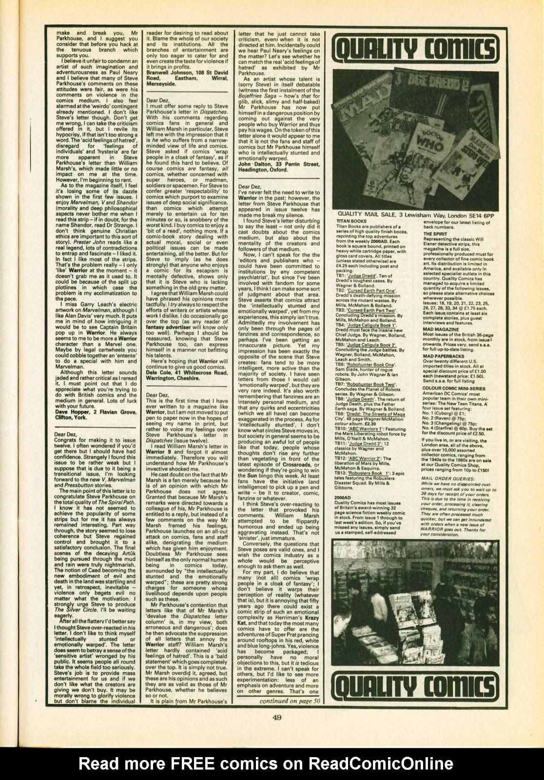 Warrior Issue #16 #17 - English 49