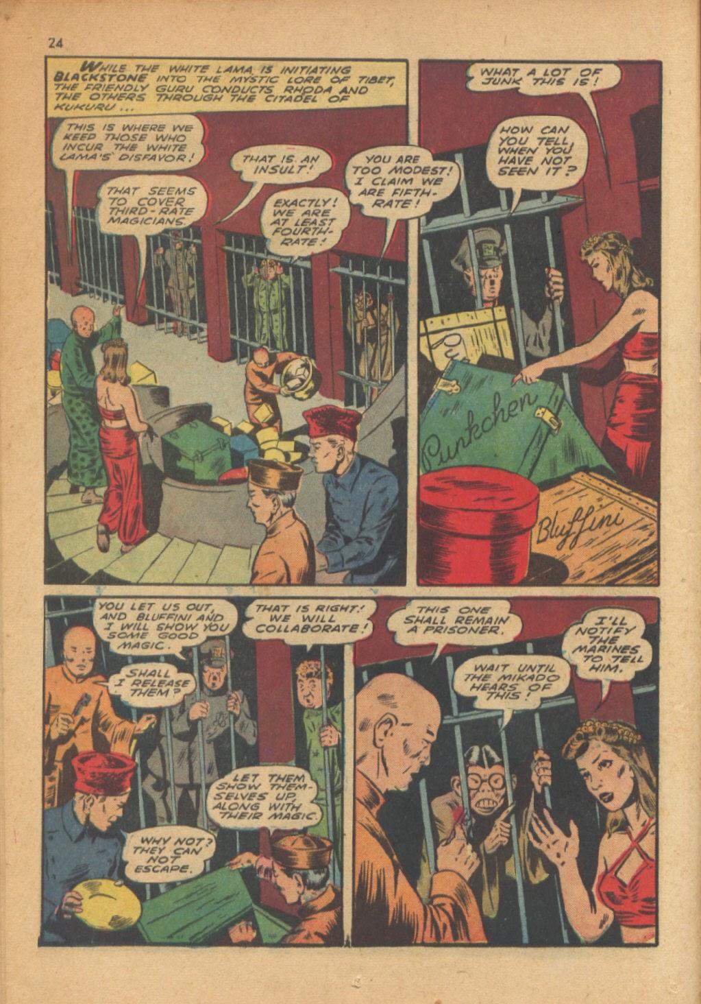 Read online Super-Magician Comics comic -  Issue #13 - 24