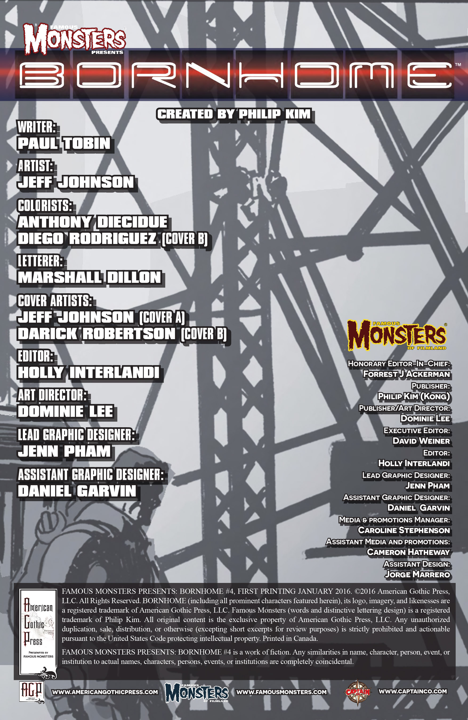 Read online Famous Monsters Presents: Bornhome comic -  Issue #4 - 2