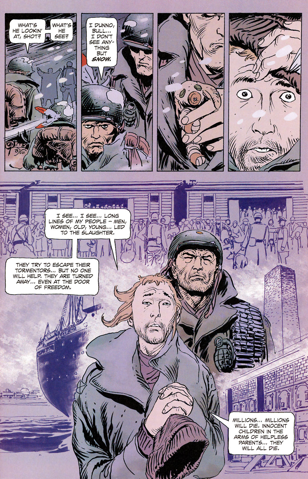 Read online Sgt. Rock: The Prophecy comic -  Issue #6 - 7