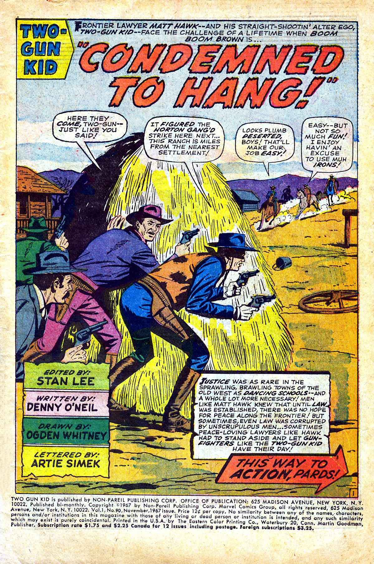 Read online Two-Gun Kid comic -  Issue #90 - 3