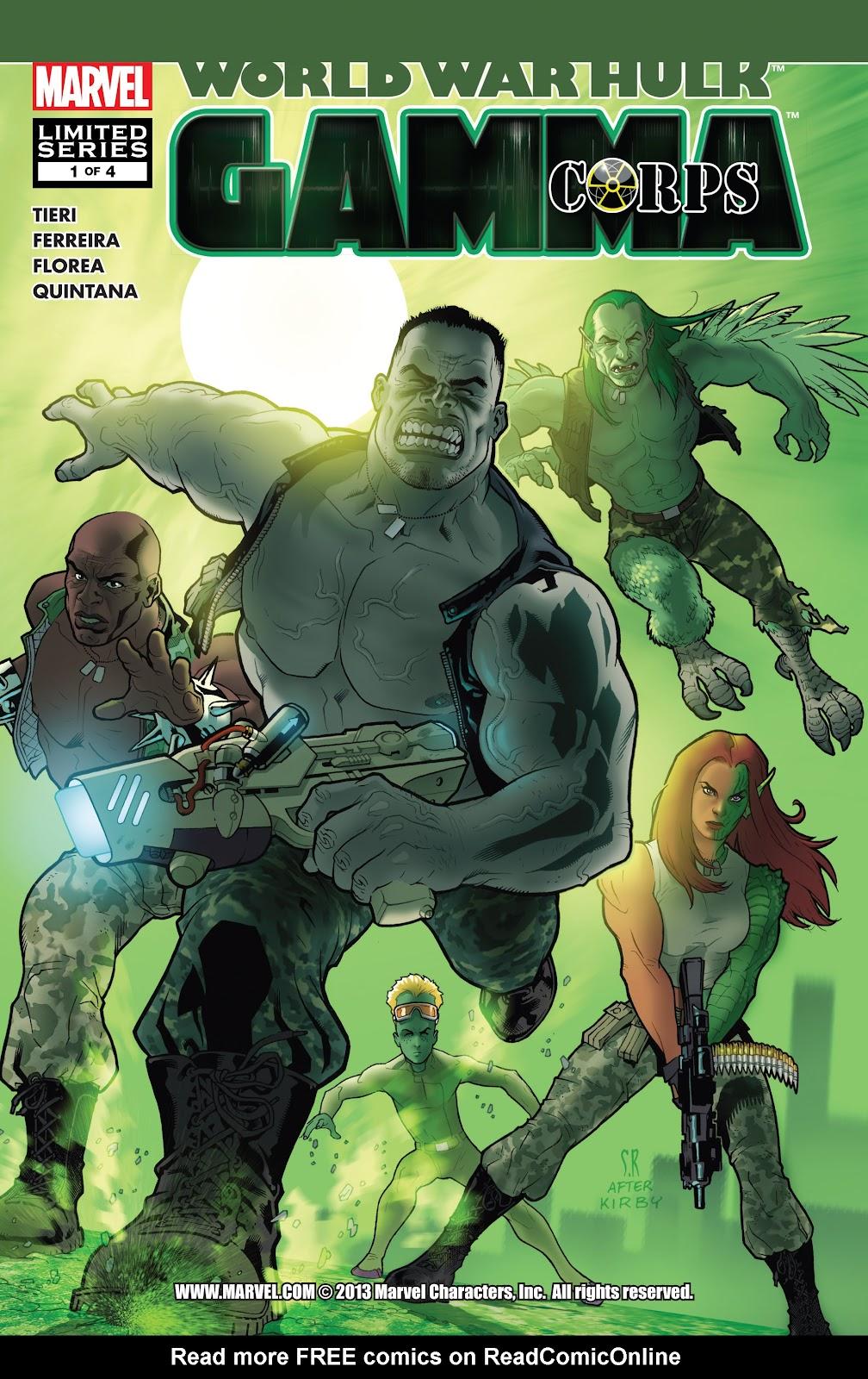World War Hulk: Gamma Corps issue 1 - Page 1