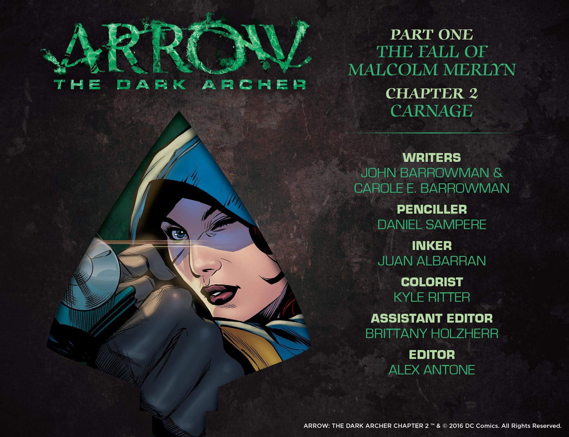 Read online Arrow: The Dark Archer comic -  Issue #2 - 2