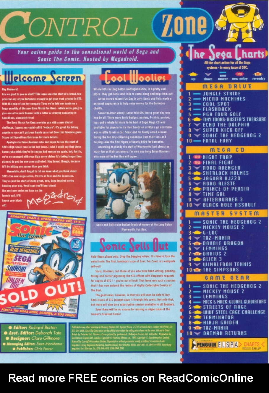 Read online Sonic the Comic comic -  Issue #8 - 2