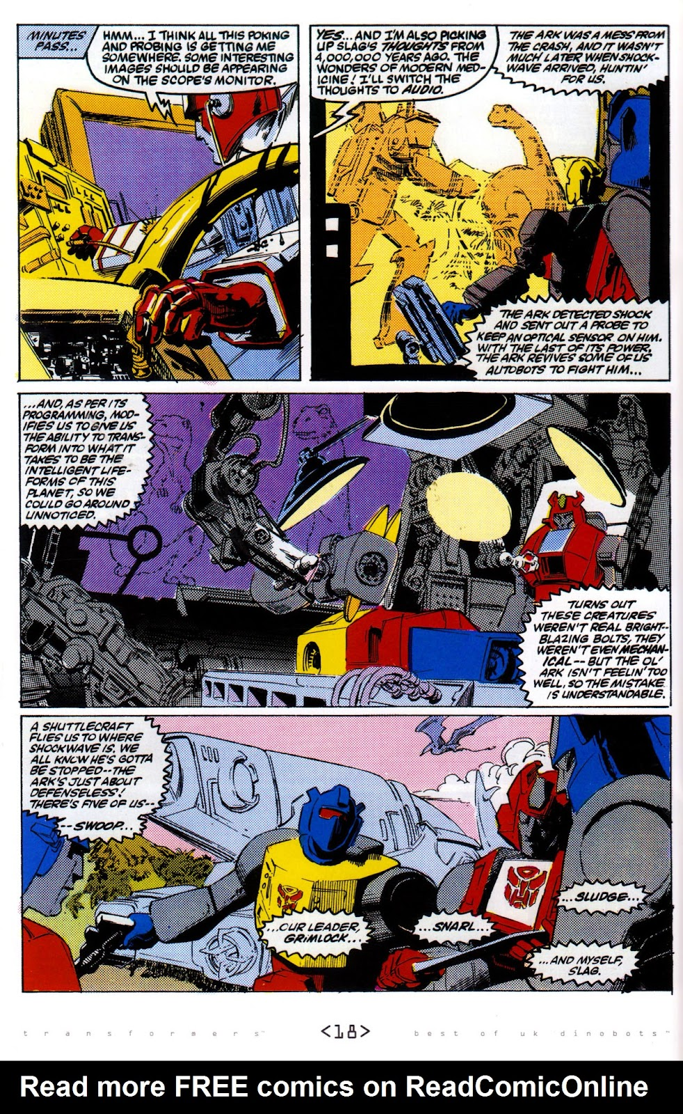Read online The Transformers: Best of UK: Dinobots comic -  Issue #6 - 21