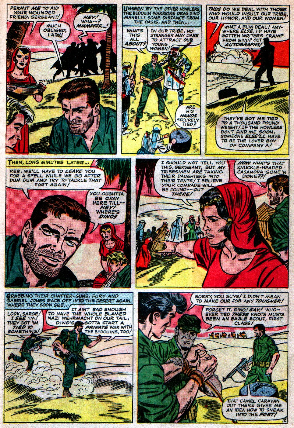 Read online Sgt. Fury comic -  Issue #16 - 17