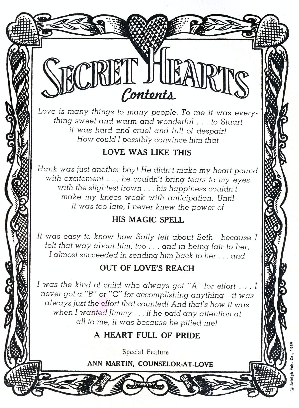 Read online Secret Hearts comic -  Issue #58 - 2