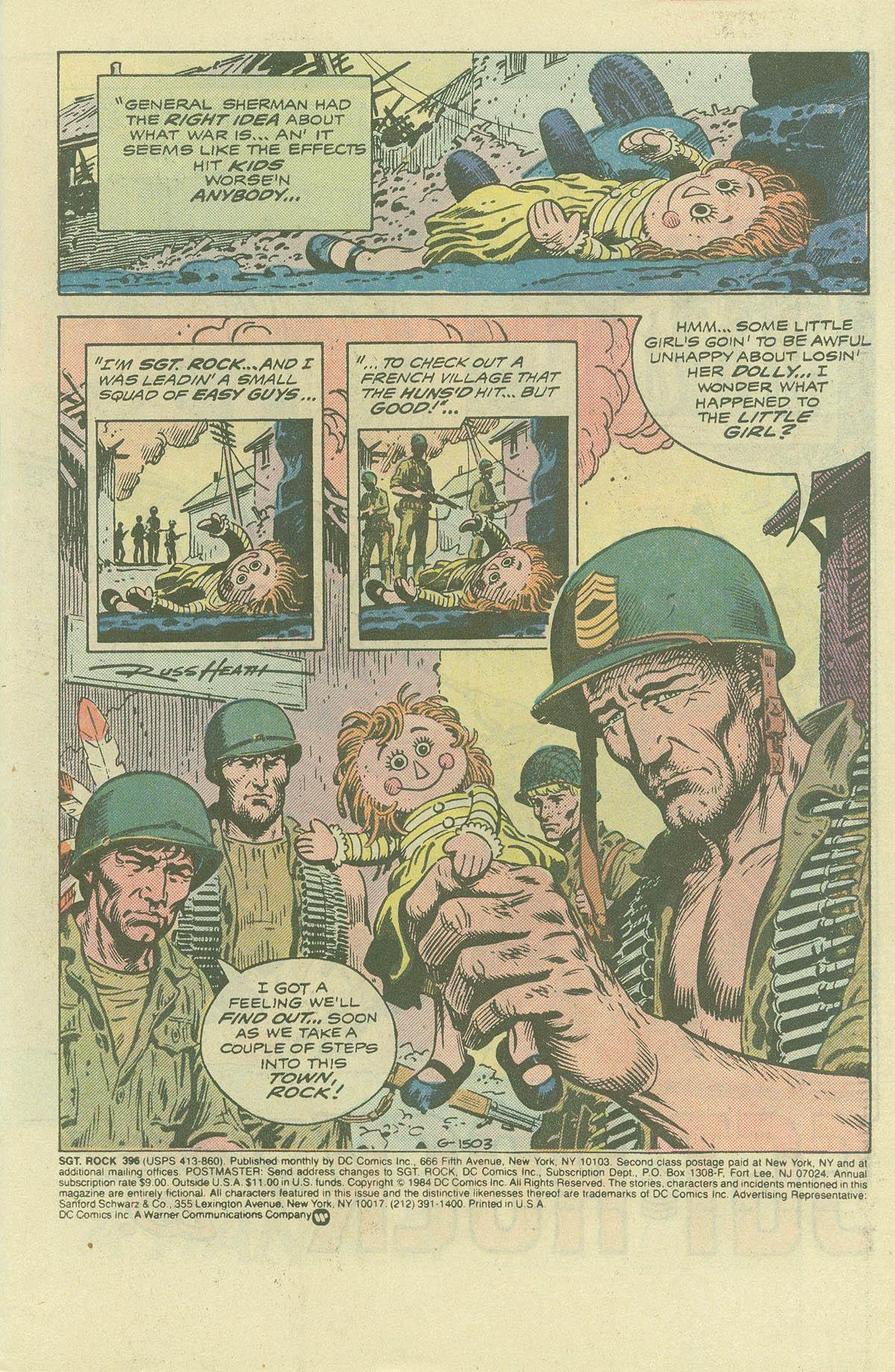 Read online Sgt. Rock comic -  Issue #396 - 3