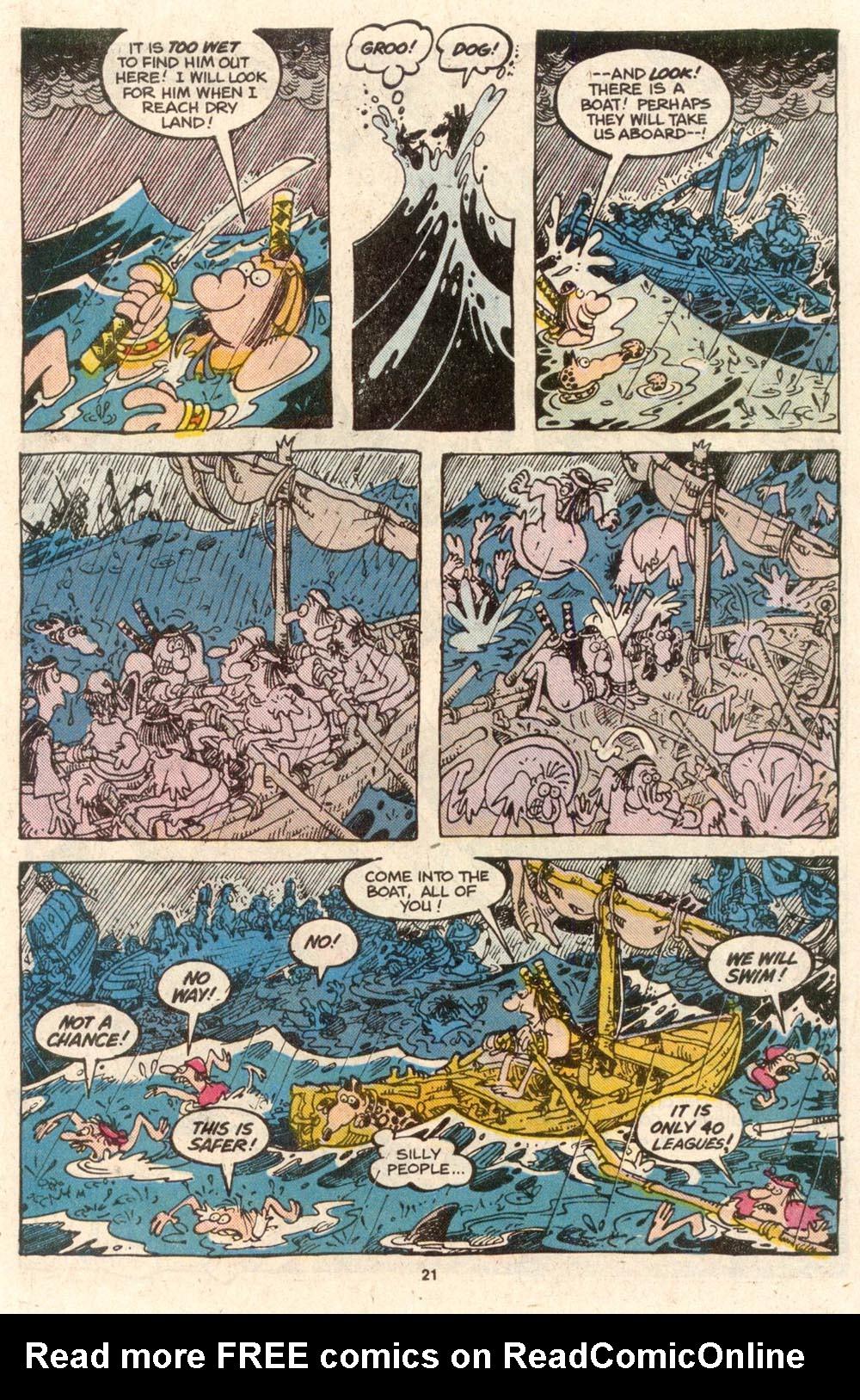 Read online Sergio Aragonés Groo the Wanderer comic -  Issue #54 - 22